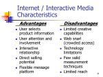internet interactive media characteristics
