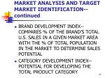 market analysis and target market identification continued27