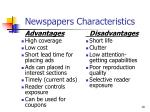 newspapers characteristics