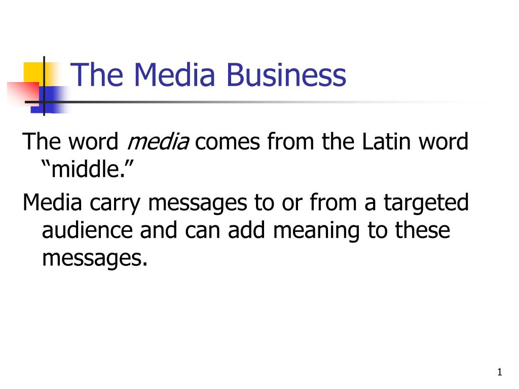 the media business l.
