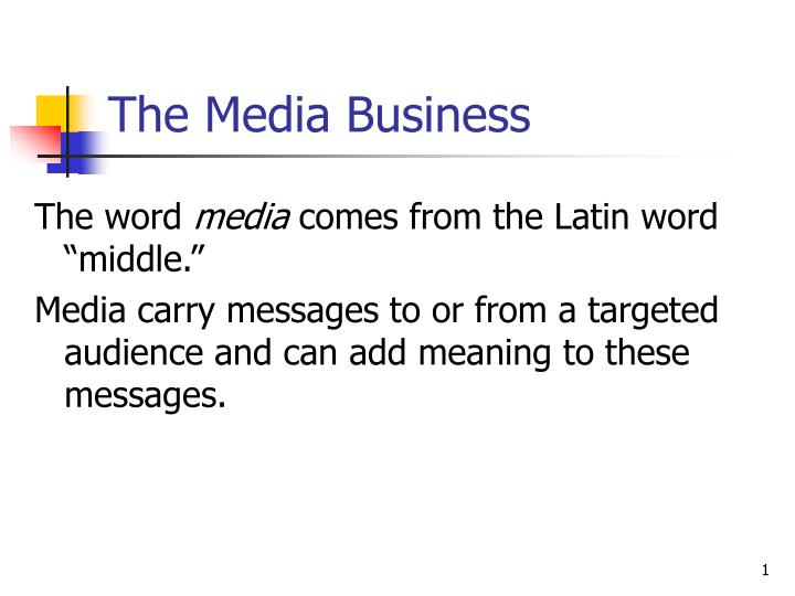 the media business n.