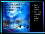 computer satellite and communications technology