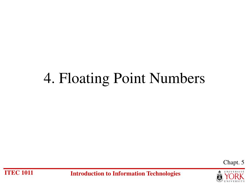 4 floating point numbers l.