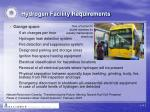 hydrogen facility requirements