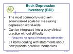 beck depression inventory bdi