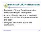dartmouth coop chart system