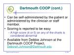 dartmouth coop cont96