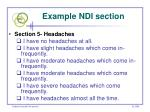 example ndi section74