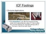 icf footings