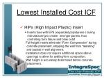 lowest installed cost icf8