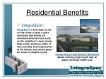 residential benefits21
