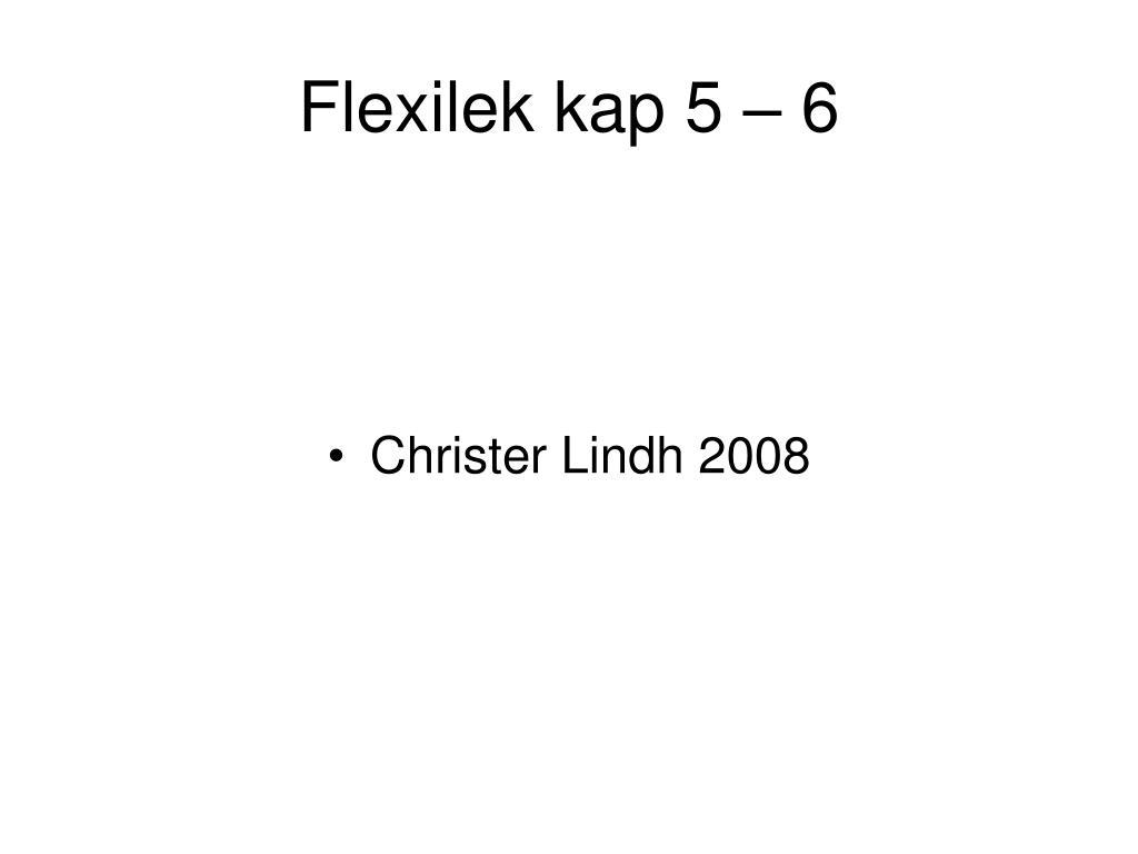 flexilek kap 5 6 l.