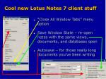 cool new lotus notes 7 client stuff