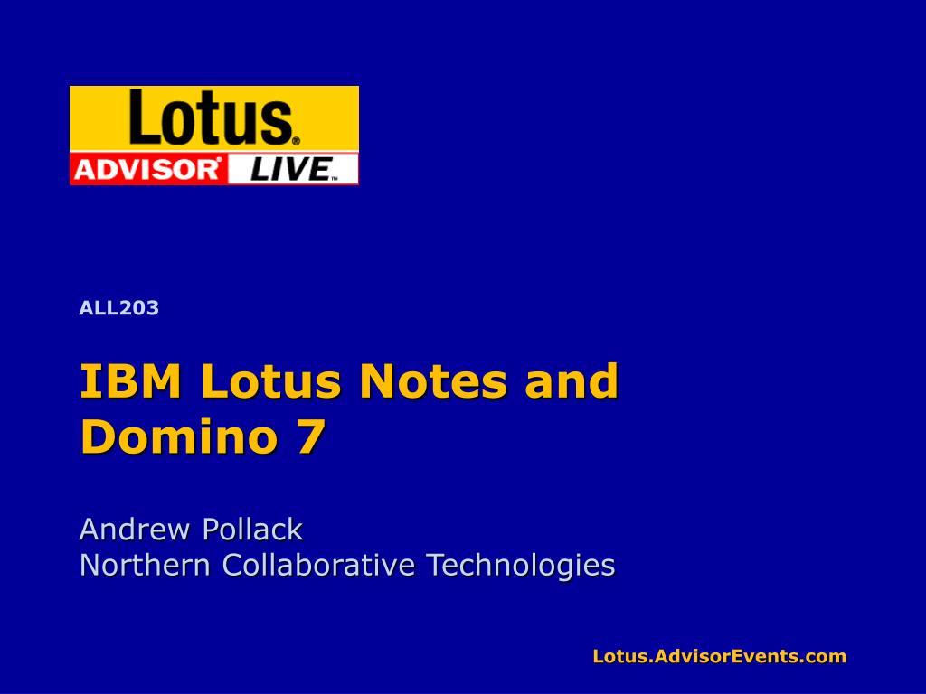 ibm lotus notes and domino 7 l.