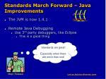 standards march forward java improvements