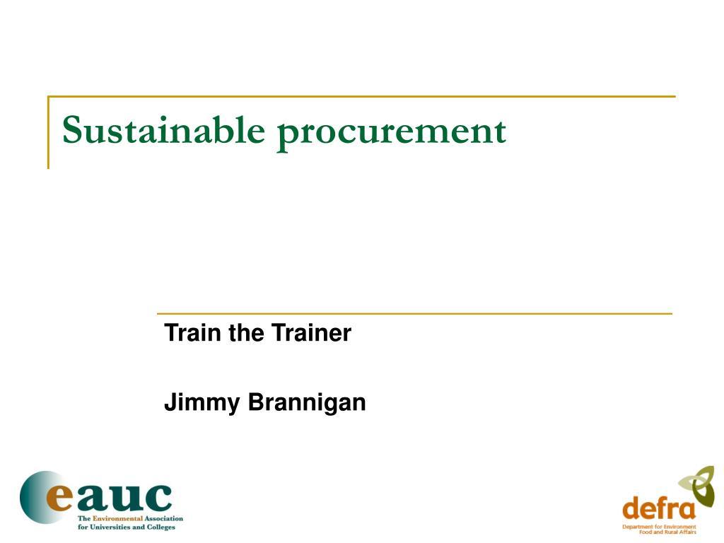 sustainable procurement l.