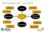 the business case why do it