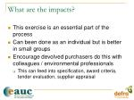 what are the impacts35