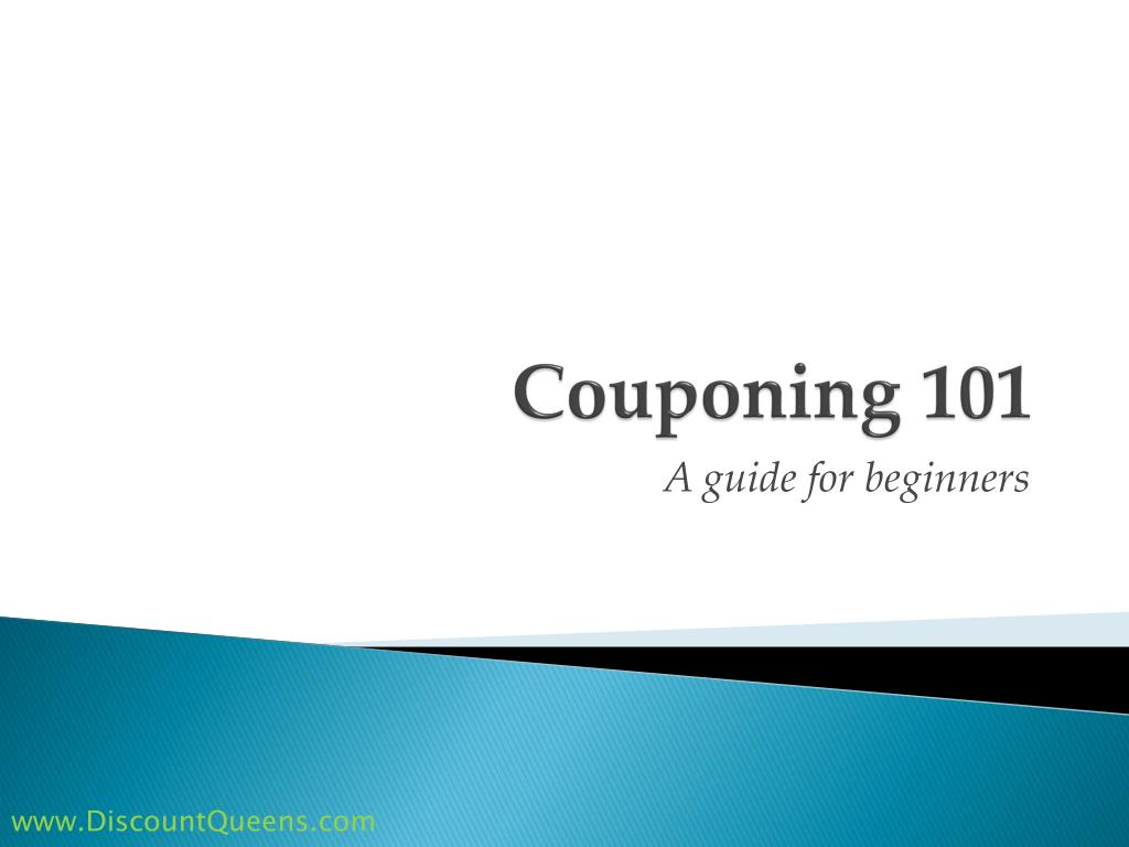 couponing 101 l.