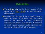 deltoid site