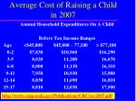 average cost of raising a child in 2007