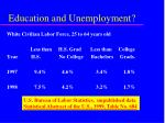 education and unemployment28