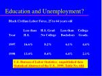 education and unemployment30