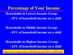 percentage of your income13