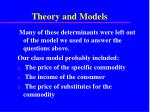 theory and models40