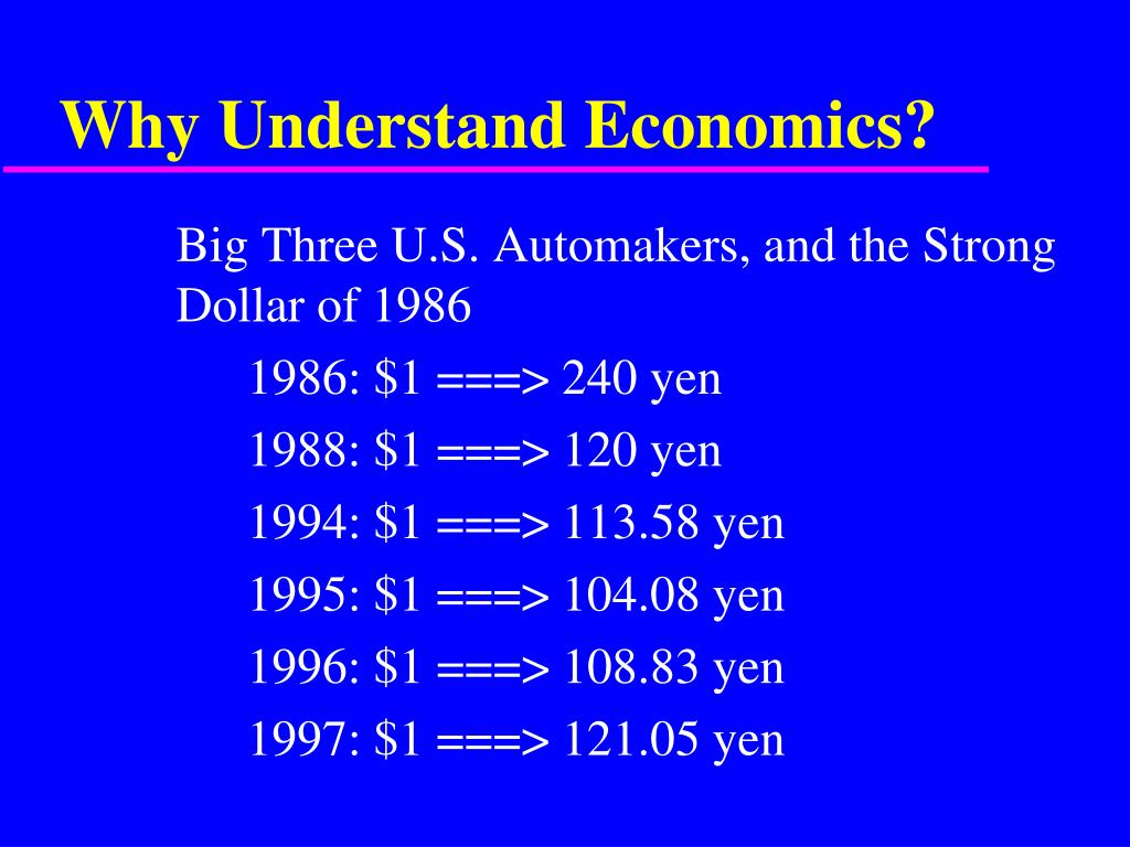 why understand economics l.