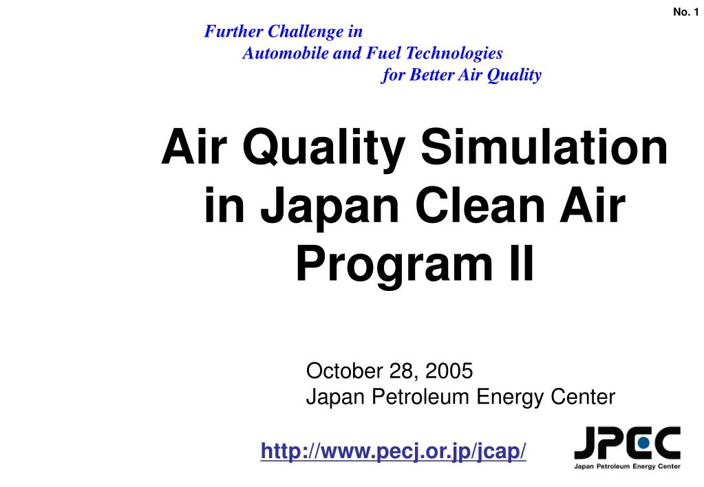 air quality simulation in japan clean air program ii l.