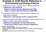 example of jcap results reflection in e nvironment and e nergy p olicies