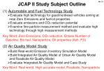 jcap ii study subject outline