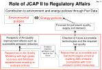 role of jcap ii to regulatory affairs