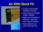 air rifle stock fit