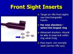 front sight inserts