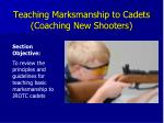teaching marksmanship to cadets coaching new shooters
