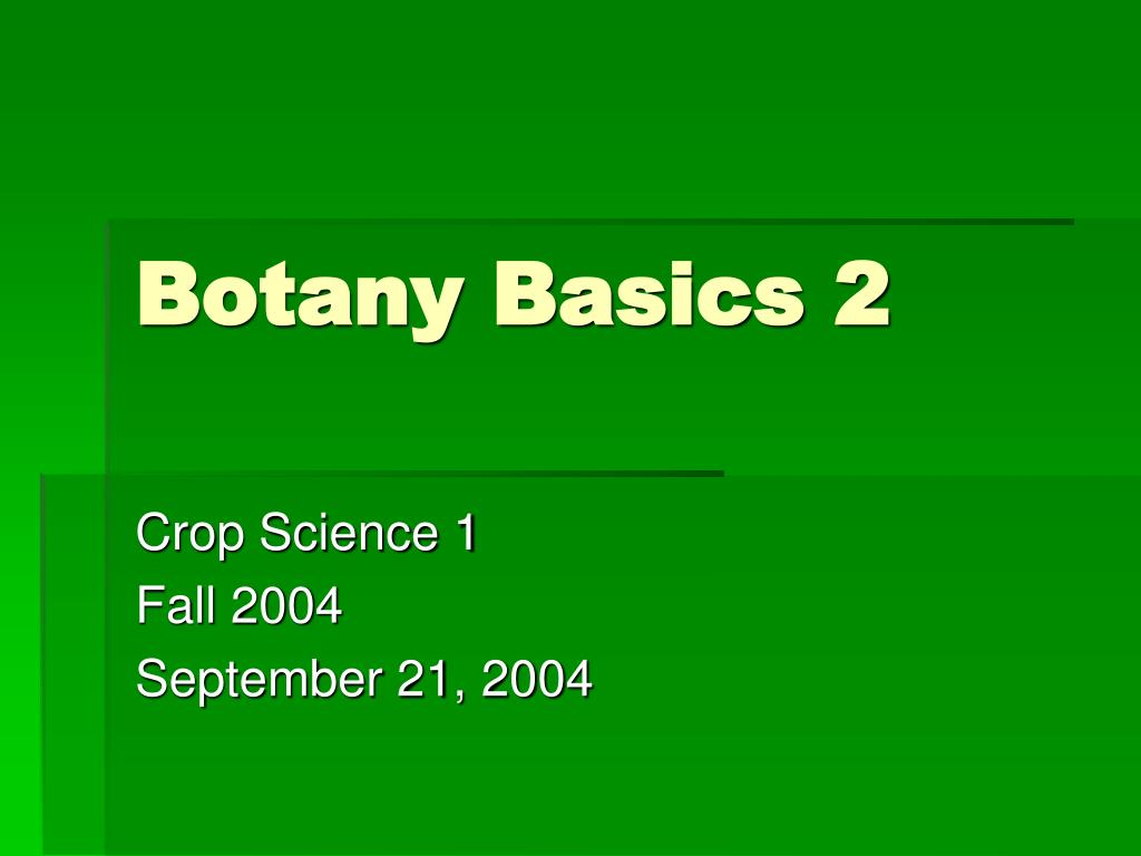 botany basics 2 l.