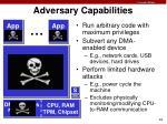 adversary capabilities