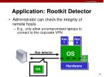 application rootkit detector