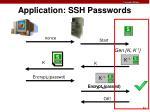 application ssh passwords