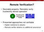 remote verification