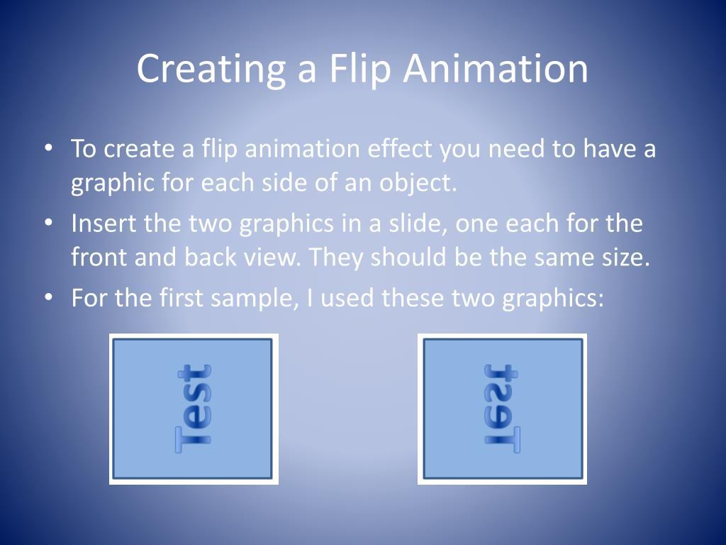 creating a flip animation l.