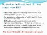 do services and investment lib rules attract more fdi