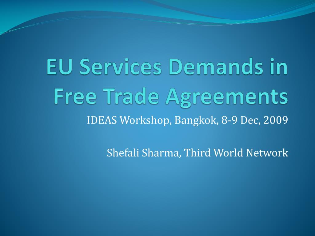 eu services demands in free trade agreements l.