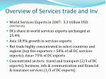 overview of services trade and inv