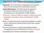 payments and capital movement chapter