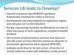 services lib leads to develop