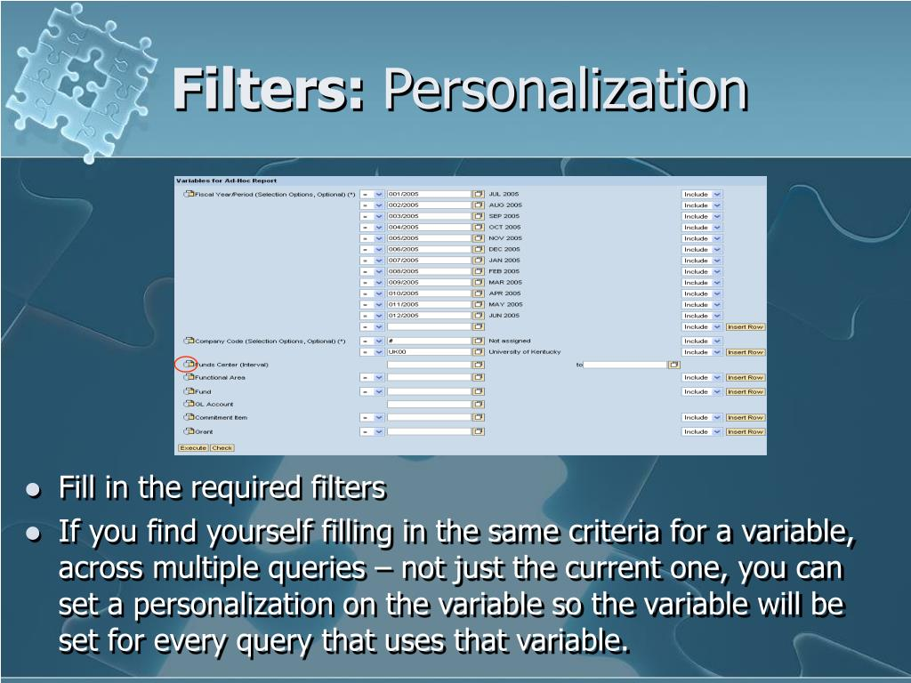 Filters: