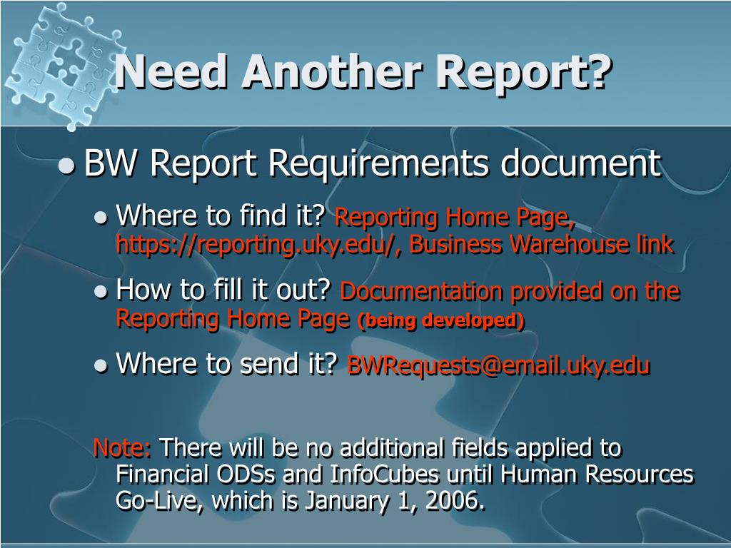 Need Another Report?
